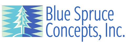 Blue Spruce Concepts, Inc. Logo
