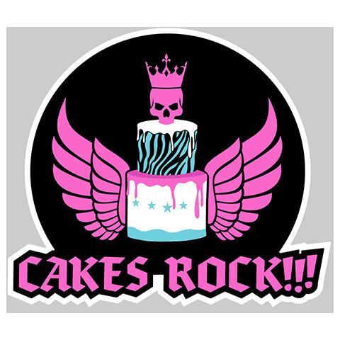 Cakes ROCK!!! Logo