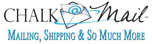 Chalk Mail: UPS, FedEx & USPS Shipping Logo