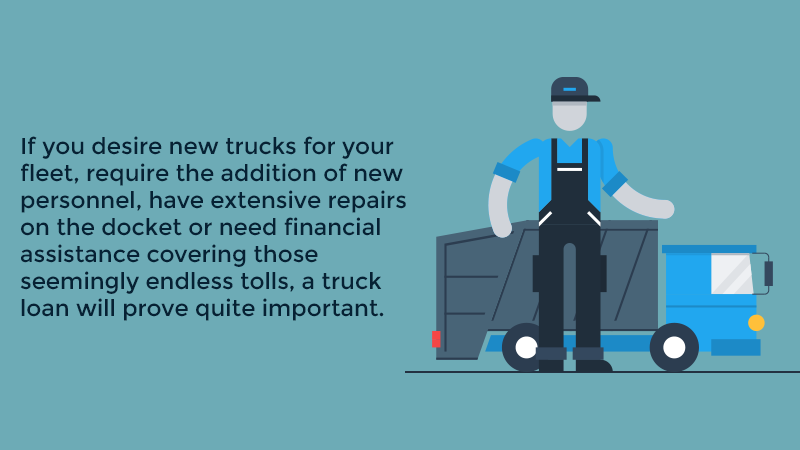 If you desire new trucks for your fleet, require the addition of new personnel, have extensive repairs on the docket or need financial assistance covering those seemingly endless tolls, a truck loan will prove quite important.