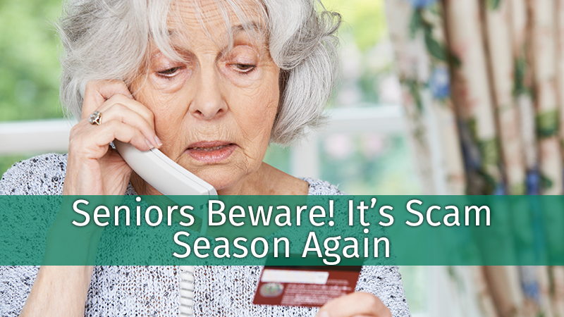 Seniors Beware! It's Scam Season Again