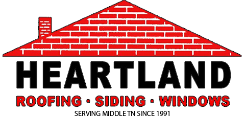Heartland Roofing Siding Windows Logo