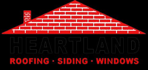 Heartland Roofing Siding Windows Logo