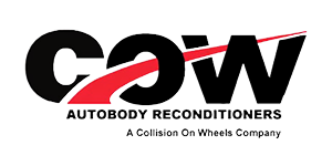 COW Autobody Reconditioners & Collision On Wheels Logo