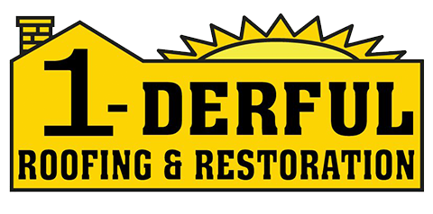 1-derful Roofing & Restoration Logo
