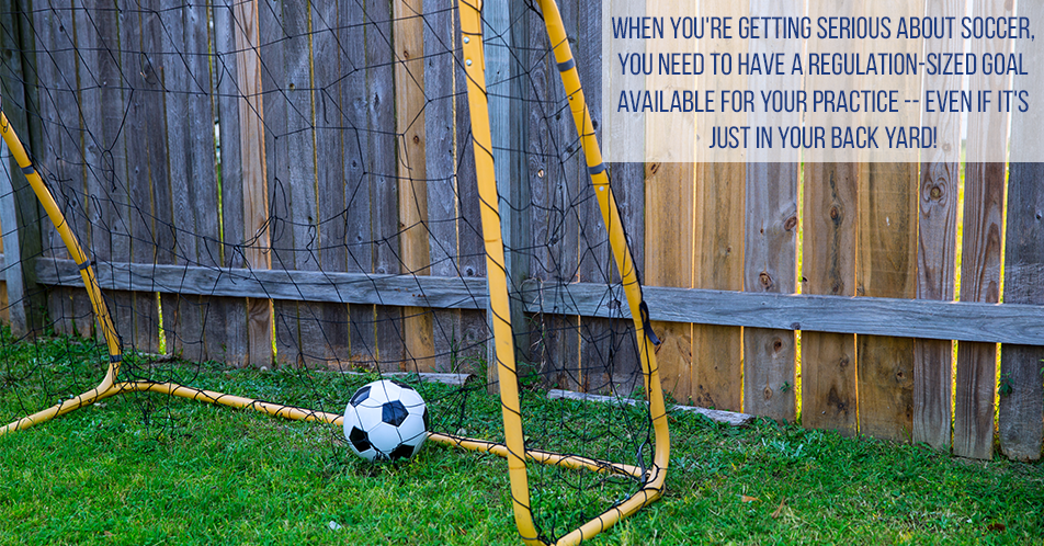 When you're getting serious about soccer, you need to have a regulation-sized goal available for your practice -- even if it's just in your back yard!