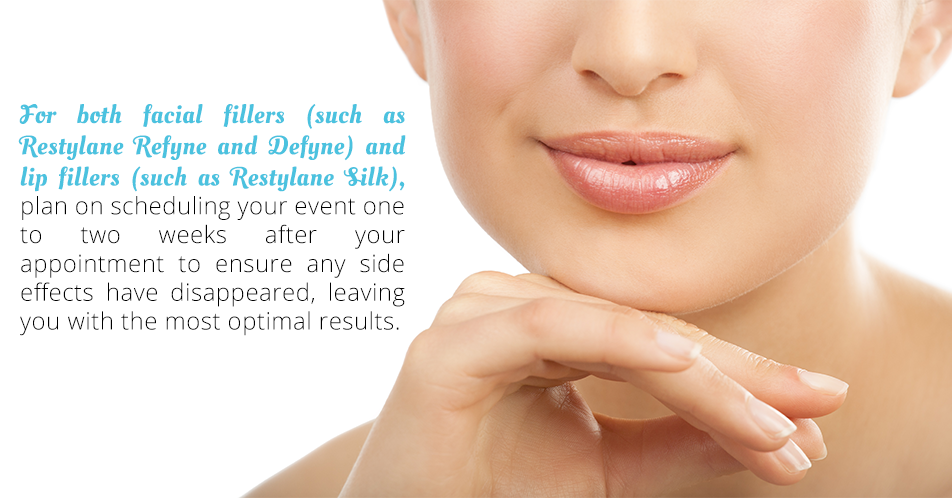 For both facial fillers (such as restylane refyne and defyne) and lip fillers (such as restylane silk),