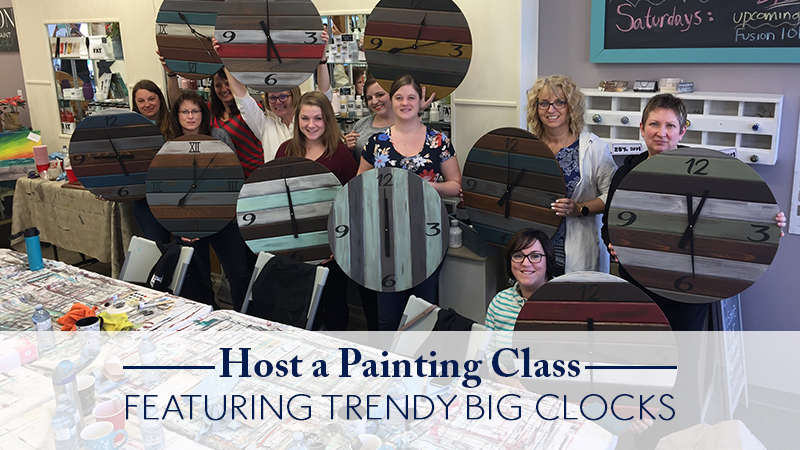 Host a Painting Class Featuring Trendy Big Clocks