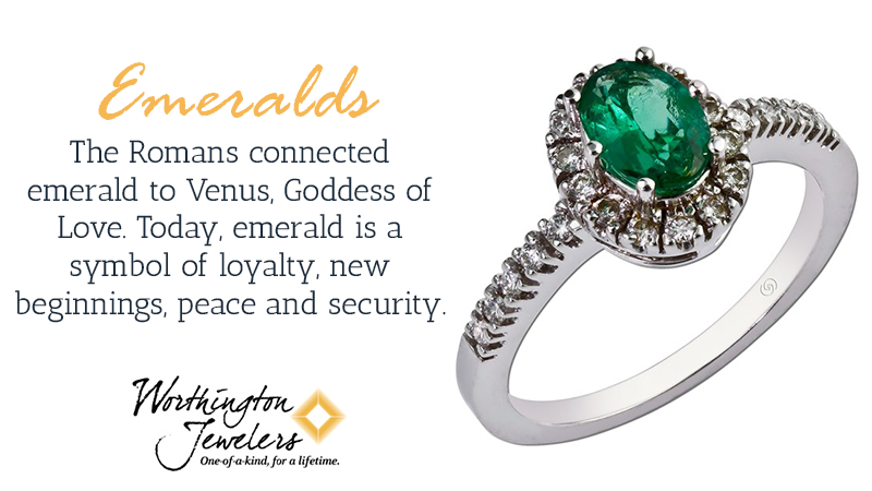 Emeralds give you the chance to get a larger stone for a fraction of the cost compared to what you would pay for a diamond.