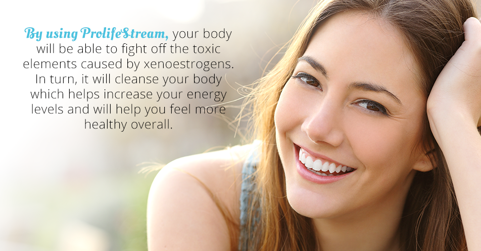 By using ProlifeStream, your body will be able to fight off the toxic elements caused by xenoestrogens. In turn, it will cleanse your body which helps increase your energy levels and will help you feel more healthy overall.