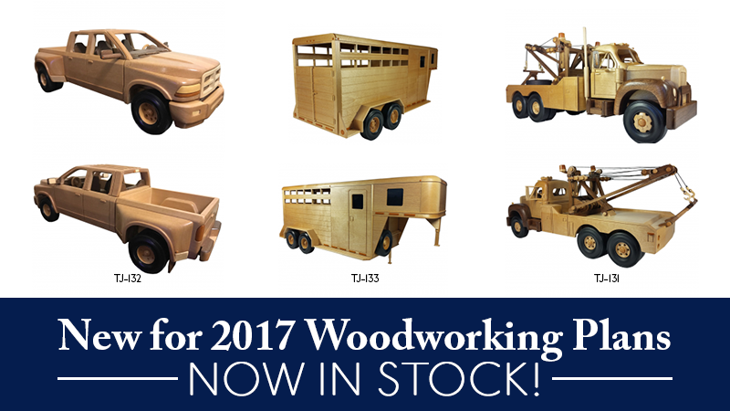 New for 2017 Woodworking Plans Now in Stock!