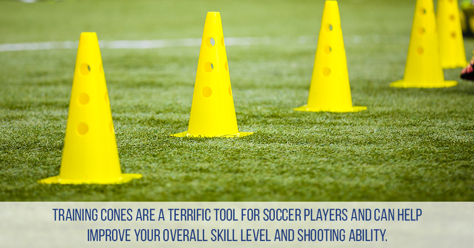 Training cones are a terrific tool for soccer players and can help improve your overall skill level and shooting ability.