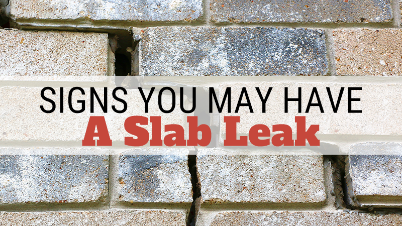 Signs You May Have a Slab Leak