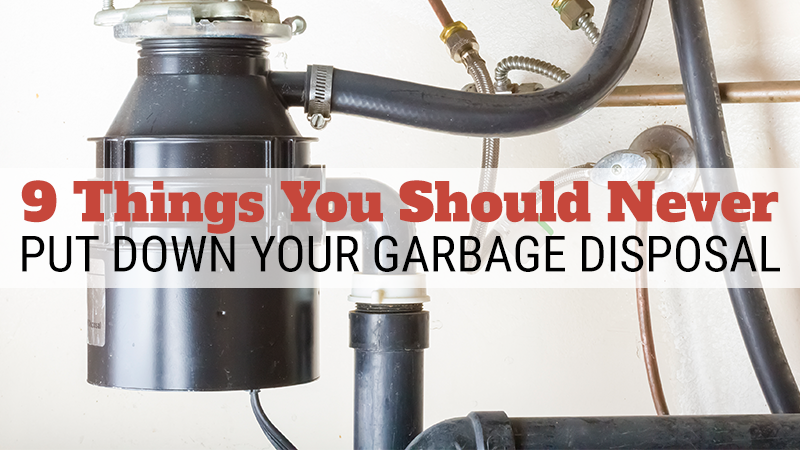 9 Things You Should Never Put Down Your Garbage Disposal