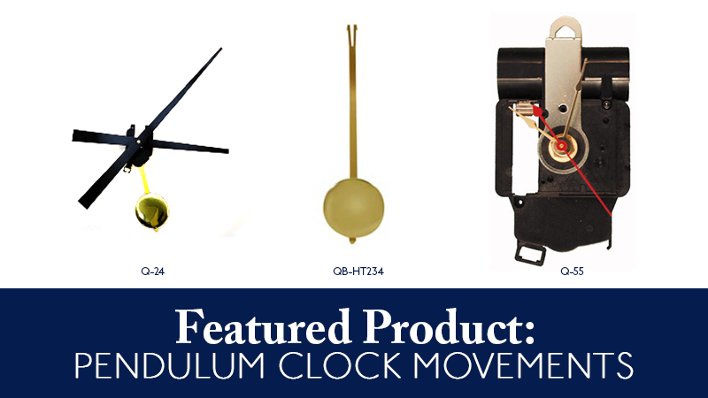 Featured Product: Pendulum Clock Movements