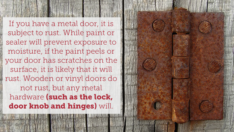 If you have a metal door it is subject to rust. While paint or & Rust: Prevention Tips \u0026 Signs That it May Be Time for a ...