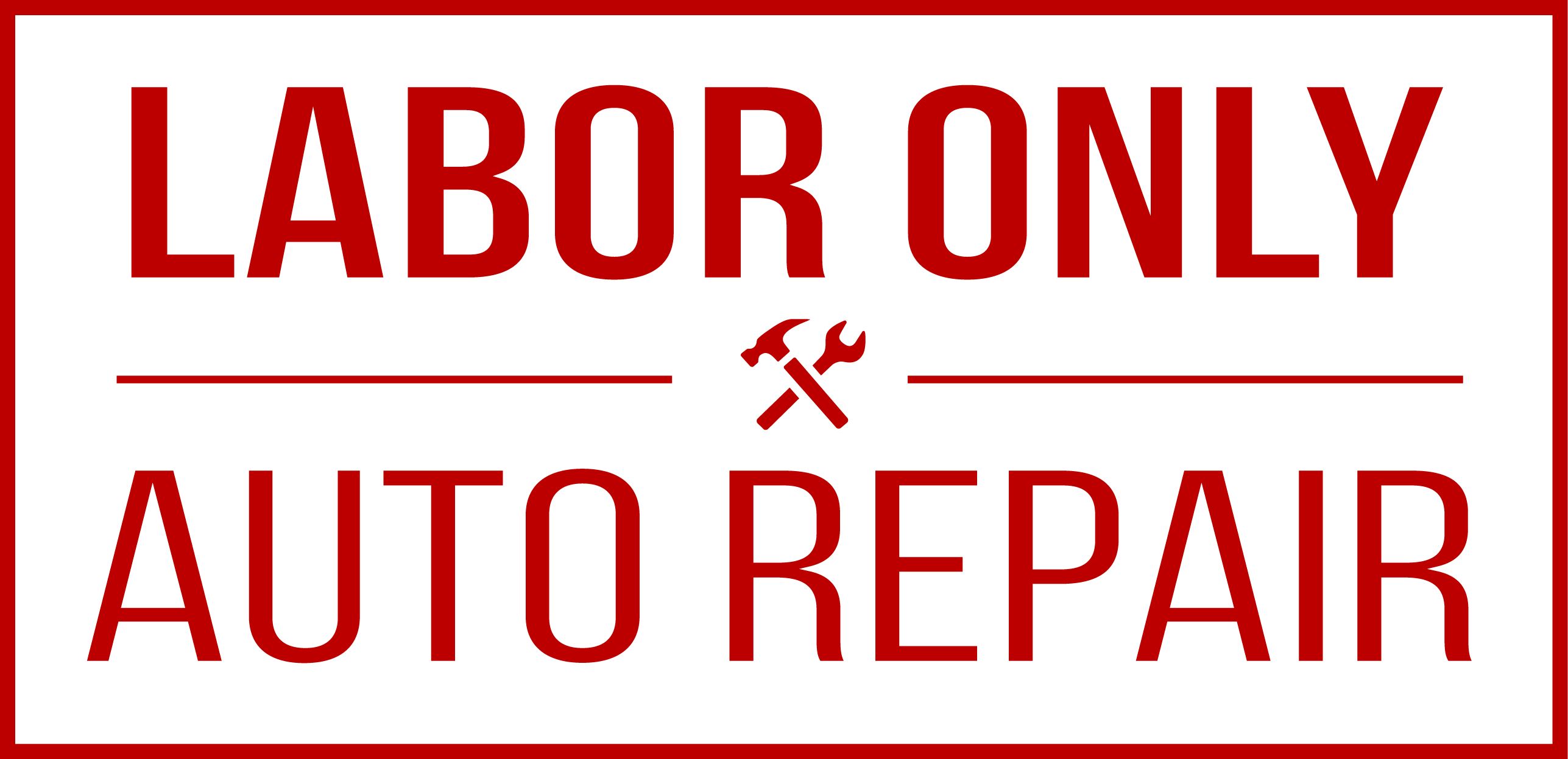 Labor Only Auto Repair Logo