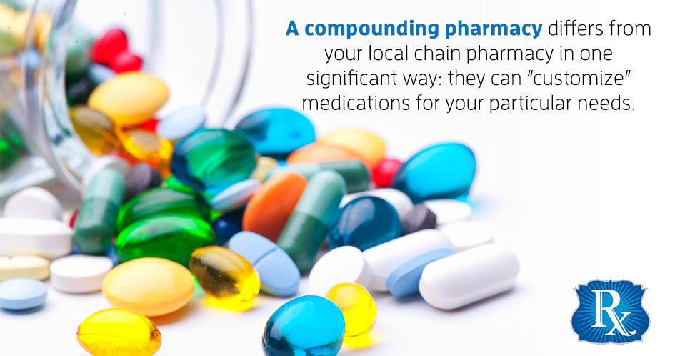 "A compounding pharmacy differs from your local chain pharmacy in one significant way: they can ""customize"" medications for your particular needs."