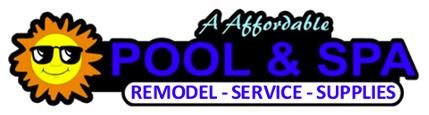 A Affordable Pool & Spa Service Logo