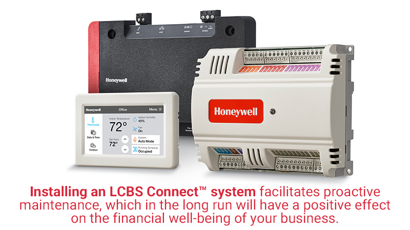 Installing an LCBS Connect™ system facilitates proactive maintenance, which in the long run will have a positive effect on the financial well-being of your business.