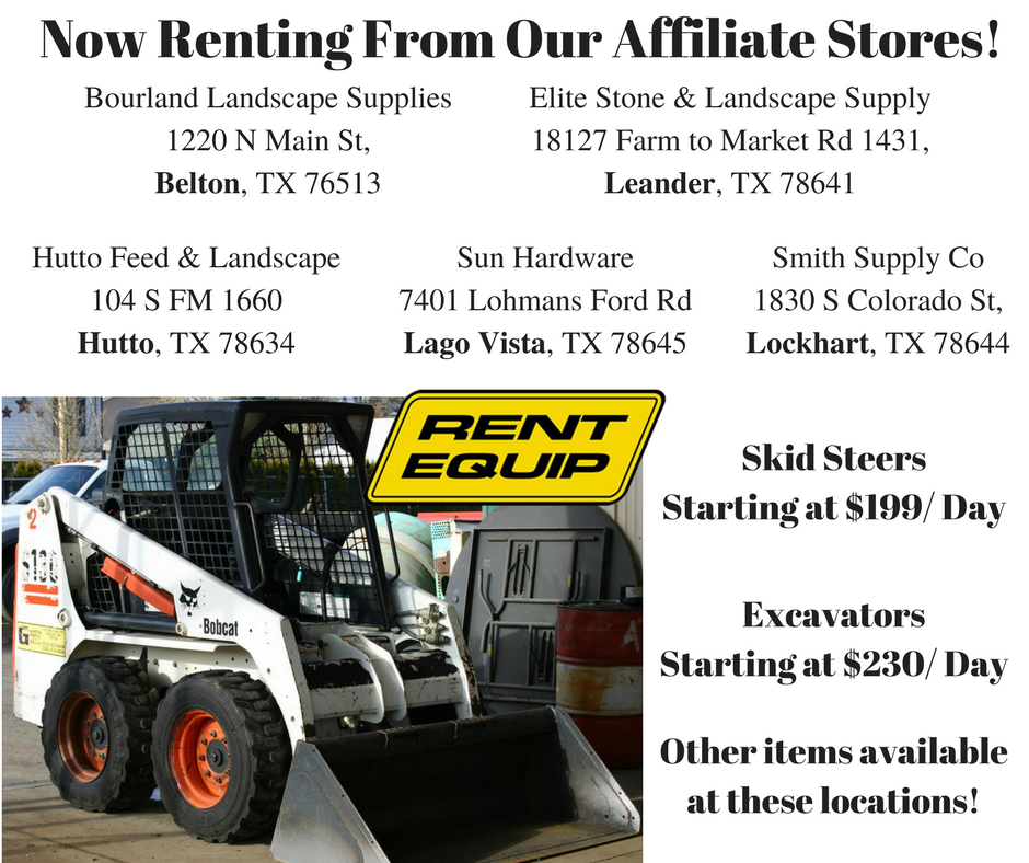 Rentals Nearby: Equipment Rental Dripping Springs TX