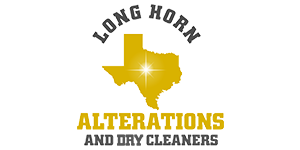 Long Horn Alterations and Dry Cleaners Logo