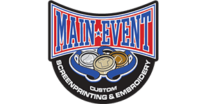 The Main Event Screen Printing and Embroidery Logo