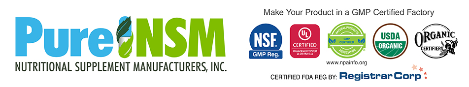Pure NSM - Nutritional Supplement Manufacturers, Inc. Logo