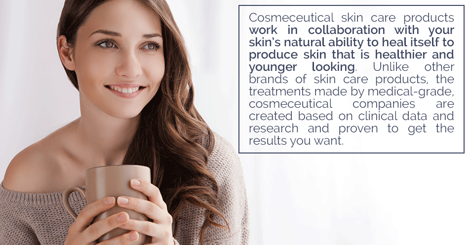 The products in the SkinMedica® skin care line work in collaboration with your skin's natural ability to heal itself to produce skin that is healthier and younger looking. Unlike other brands of skin care products, the treatments created by SkinMedica® are created based on clinical data and research and proven to get the results you want.