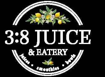 3:8 Juice & Eatery Logo