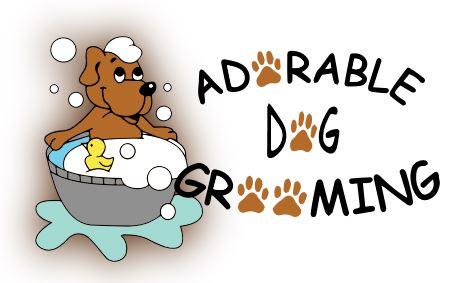 Adorable Dog Grooming Logo