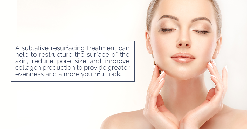 A sublative resurfacing treatment can help to restructure the surface of the skin, reduce pore size and improve collagen production to provide greater evenness and a more youthful look.