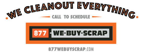 We Cleanout Everything - 877WeBuyScrap Logo
