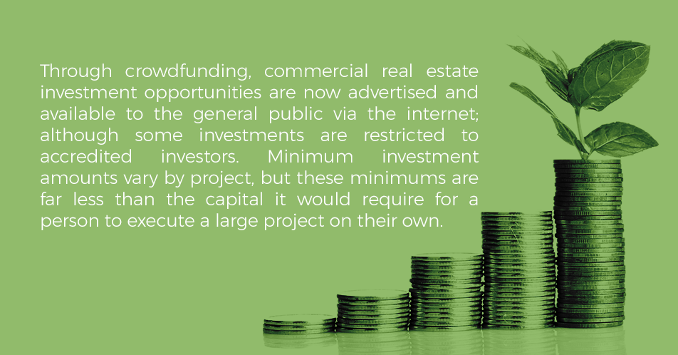 A large percentage of the population is unable to invest in commercial real estate as many of these investments involve a few well-connected individuals. However, there may be an equalizer that allows individual, independent investors to begin taking advantage of the stability and low-risk related to commercial real estate investments.