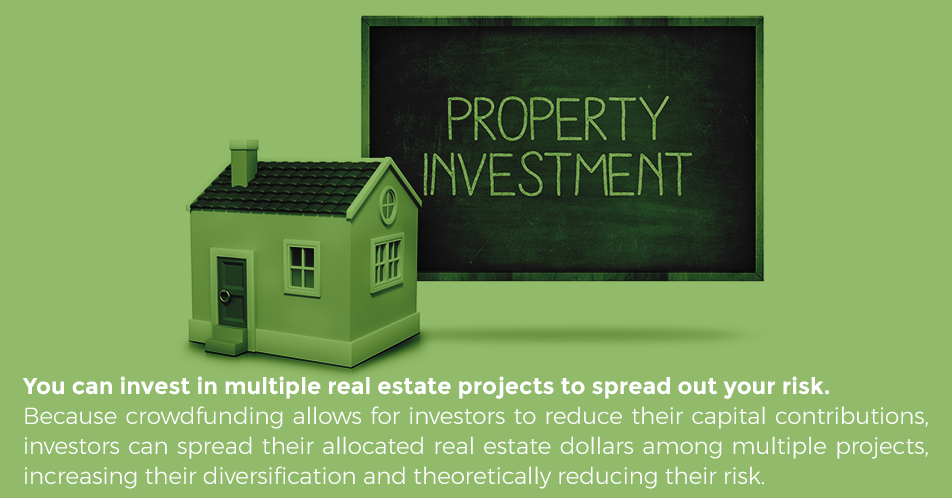 You can invest in multiple real estate projects to spread out your risk. This creates a well-balanced portfolio of commercial investments, without having to invest all of your money in commercial real estate.