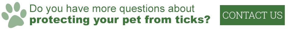 Do you have more questions about protecting your pet from ticks? Contact us