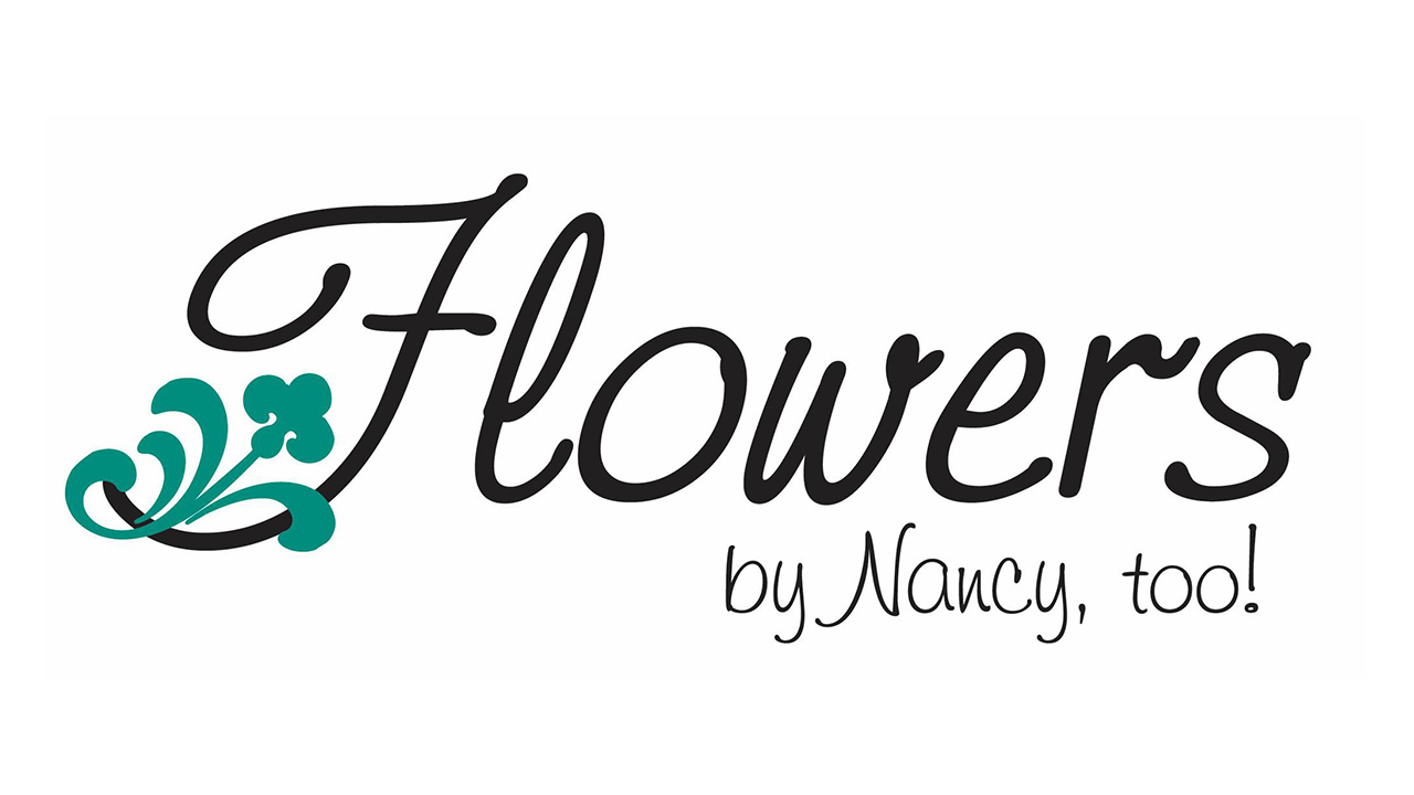Flowers by Nancy, too! Logo