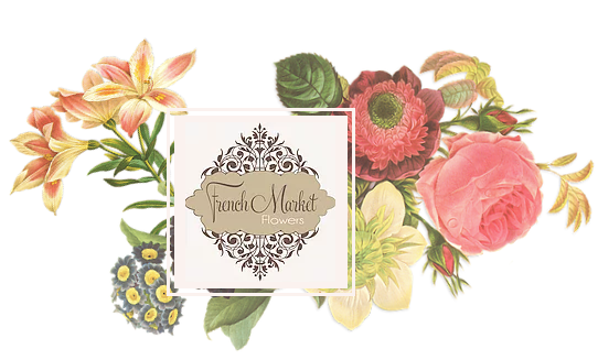French Market Flowers Logo