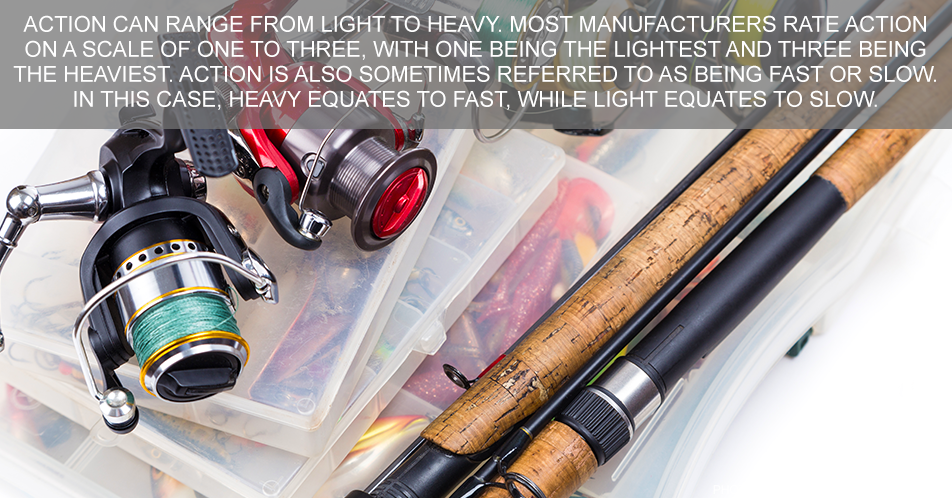 Action can range from light to heavy. Most manufacturers rate action on a scale of one to three, with one being the lightest and three being the heaviest. Action is also sometimes referred to as being fast or slow. In this case, heavy equates to fast, while light equates to slow.