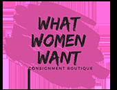 What Women Want Resale Boutique Logo