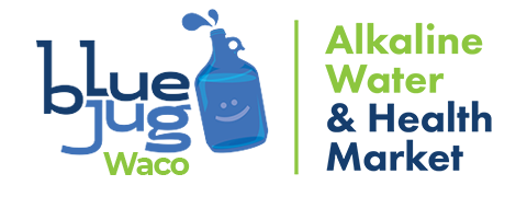 Blue Jug Waco - Alkaline Water & Health Market Logo