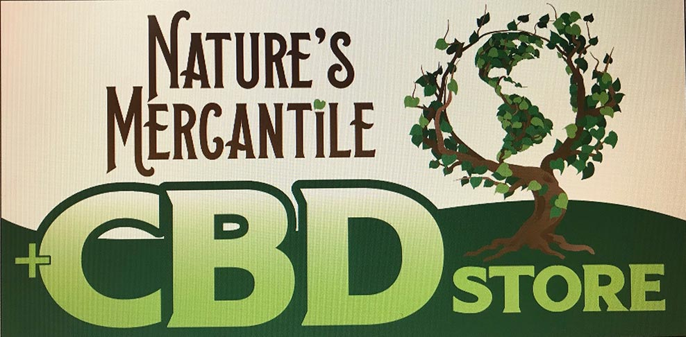 Nature's Mercantile +CBD Store Logo