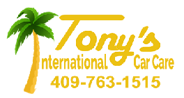 Tony's International Car Care Logo