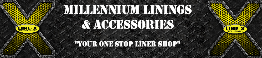 Millennium Linings Accessories and LINE-X of Greenwood Logo