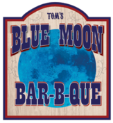 Blue Moon BBQ Logo