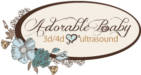 Adorable Baby 3D/4D Ultrasound Logo