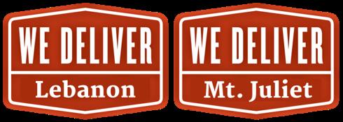 We Deliver Mt Juliet & Lebanon Logo