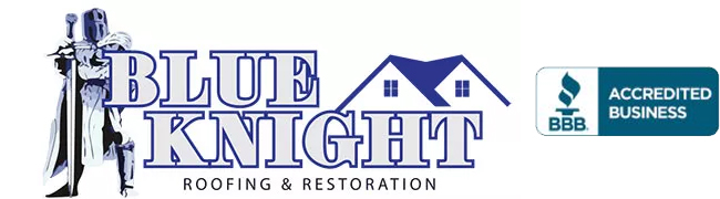 Blue Knight Roofing and Restoration Logo