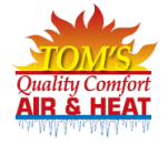 Tom's Quality Comfort Air & Heat Logo