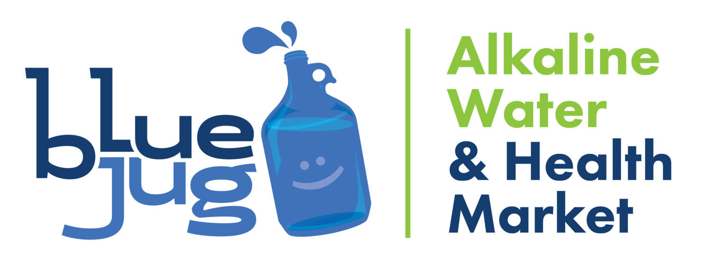 Blue Jug Alkaline Water & Health Market Logo